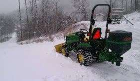 Compact Tractor Attachments Put To Use