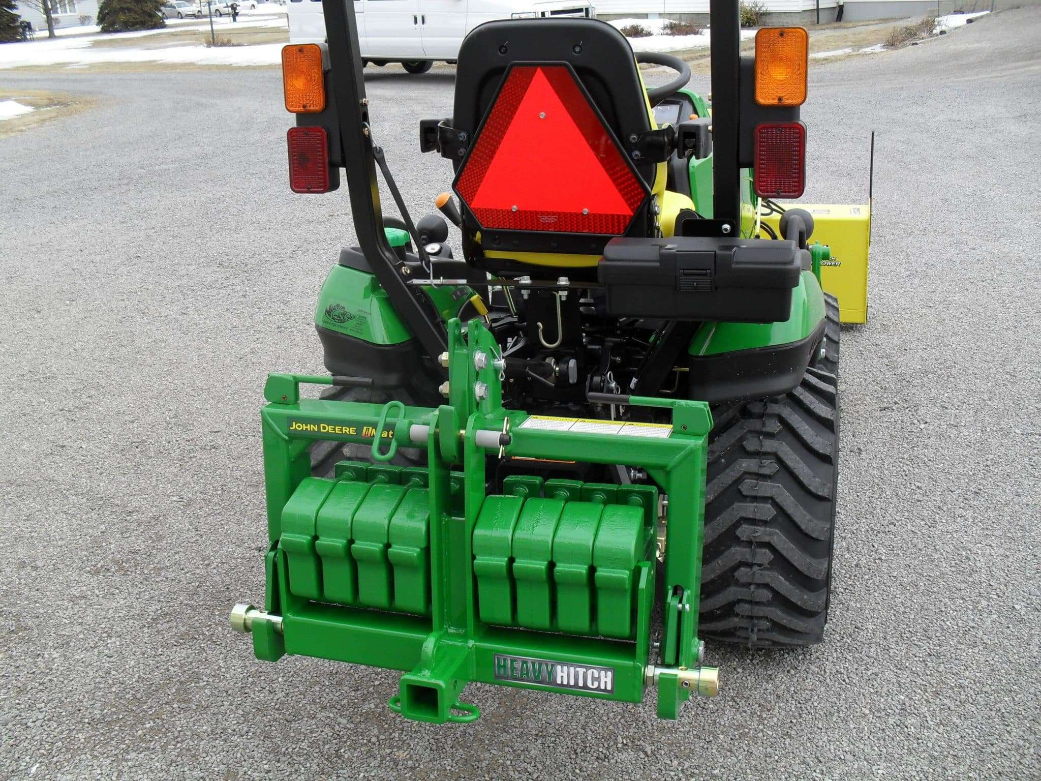Tractor Attachments Product : Category point hitch receiver with suitcase weight