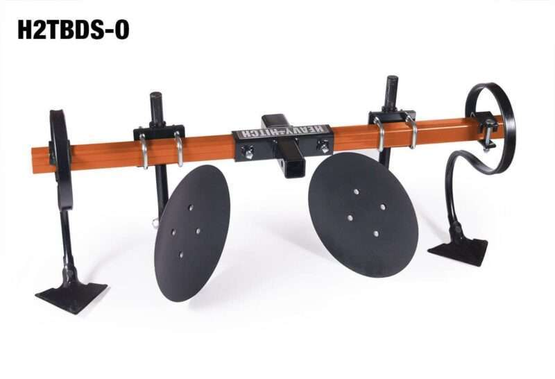"""Heavy Hitch 2"""" Heavy Wall Steel Toolbar with Garden Bedder / Hiller / Cultivator Attachments"""