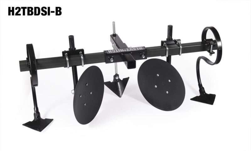 "Heavy Hitch 2"" Heavy Wall Steel Toolbar with Garden Bedder / Hiller  / Cultivator Attachments"