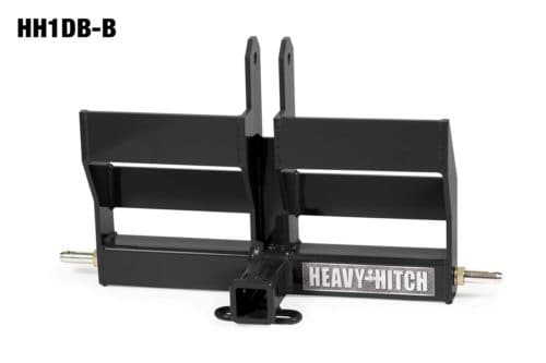 Category 1 Receiver Hitch and Dual Suitcase Weight Bracket for 3 Point Hitch