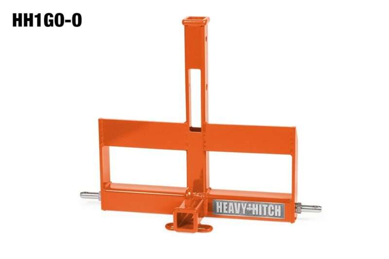 Category 1 Dual Receiver Hitch and Suitcase Weight Bracket for 3 Point Hitch