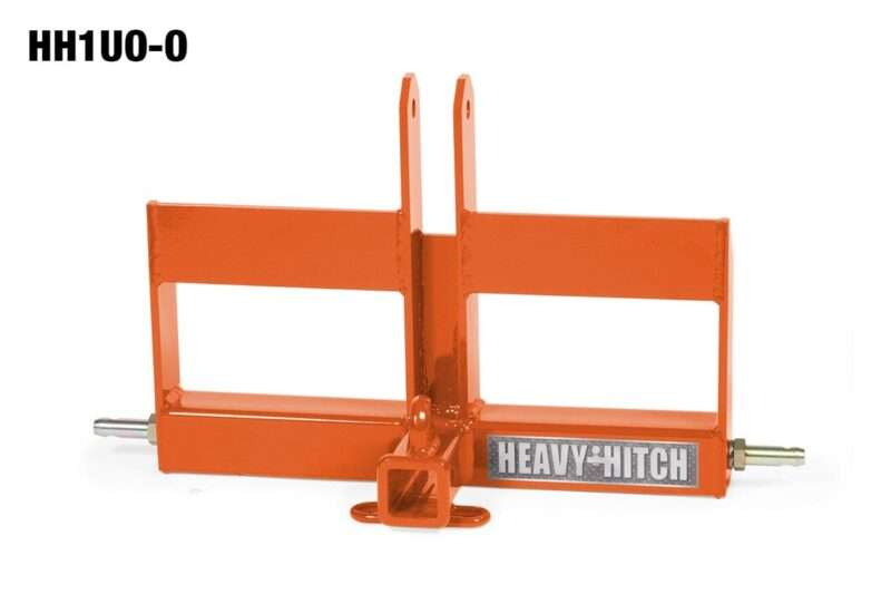 Category 1 Receiver Hitch and Offset Suitcase Weight Bracket for 3 Point Hitch